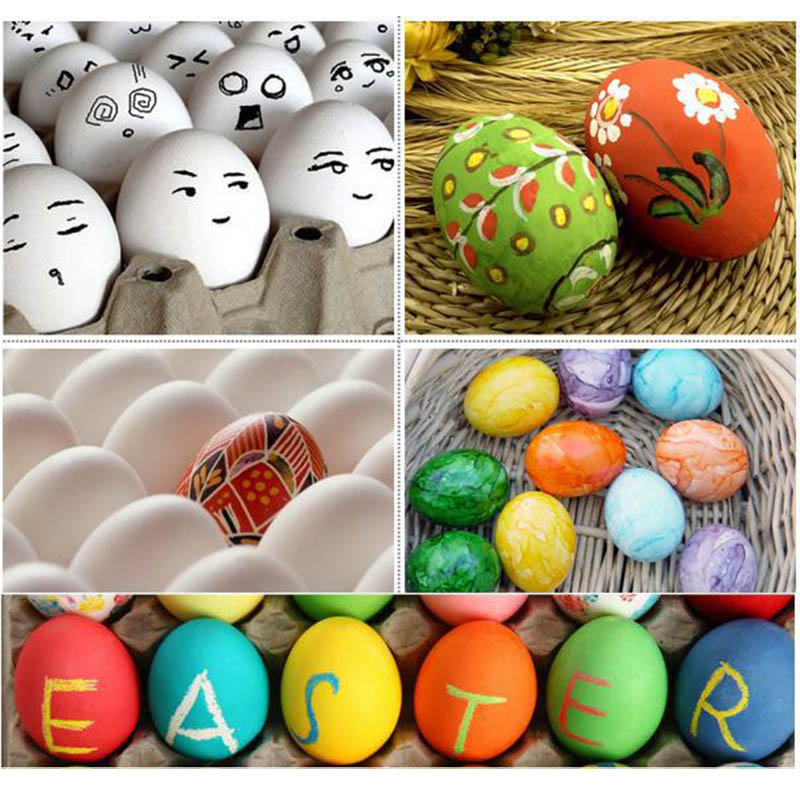 Easter Egg Children's Toys Wooden Simulation Eggs DIY Painted Graffiti Kids Play House Toys Free Shipping beistle company mens easter egg whirls assorted