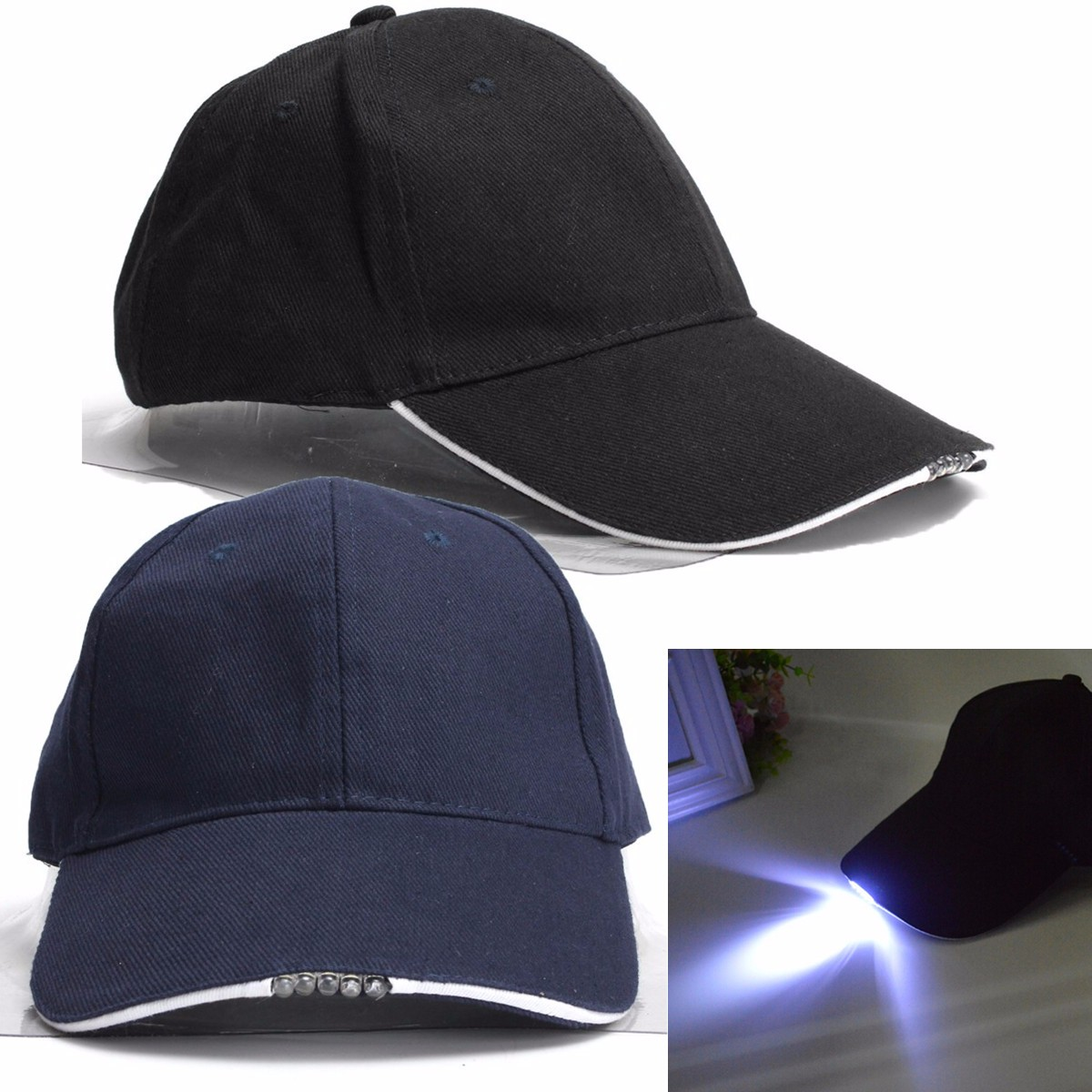 Adjustable Bicycle 5 LED Headlamp Cap Battery Powered Hat With LED Head Light Flashlight For Fishing Jogging Baseball Cap adjustable baseball hat fashion sunshade cap with tesla logo black sport hat for tesla model s x universal cap for men women