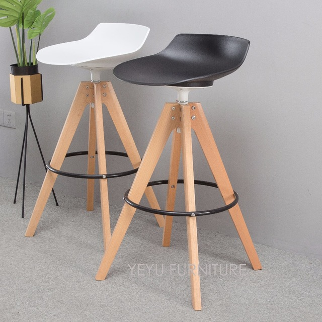 Seat Height 65cm 75cm Modern Loft Design Solid Wood Swivel Kitchen Room Counter  Stool, Classic