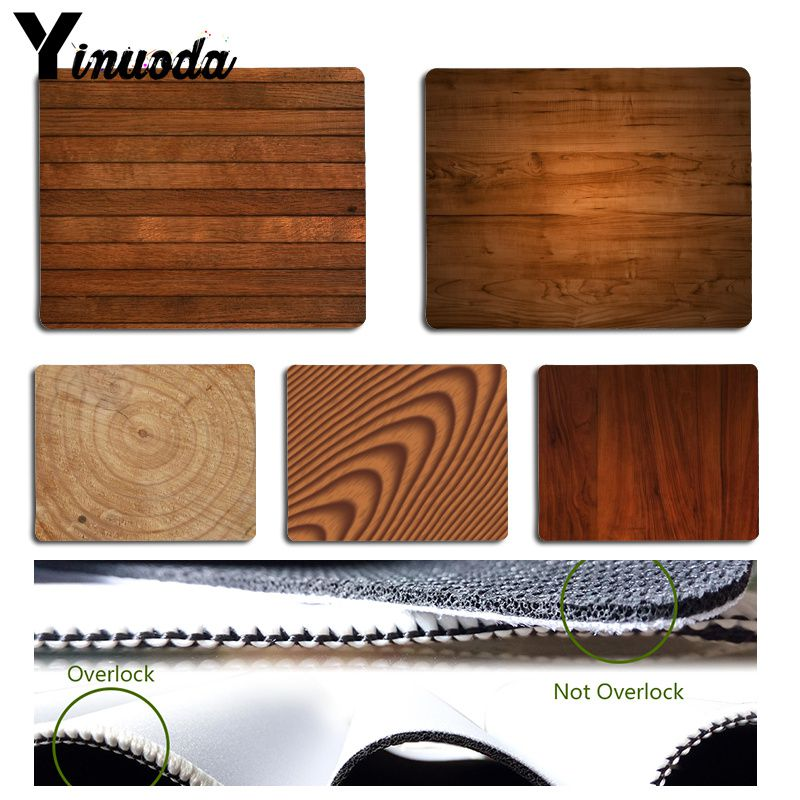 Yinuoda Vintage Cool Brown Wood Gamer Speed Mice Retail Small Rubber Mousepad Size For 18x22cm 25x29cm Rubber Mousemats
