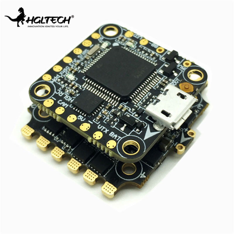 цена на 20*20mm HGLRC XJB F438 Flytower Micro F4 Flight Controller AIO OSD BEC & 33A 4 in 1 BLheli_S DShot600 ESC For RC Toys VS Holybro