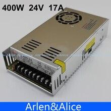 400 واط 24 فولت 17A إخراج واحد تحويل التيار الكهربائي ل LED التيار المتناوب إلى تيار مستمر smps