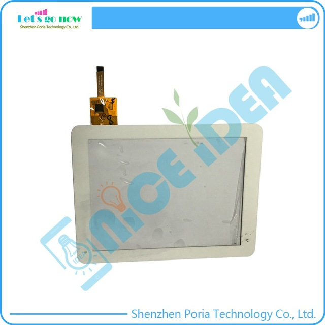 """Black 8.0"""" Touch Screen Digitizer For China MF-536-080F Front Touch Panel Glass Sensor Replacement With Track Number"""