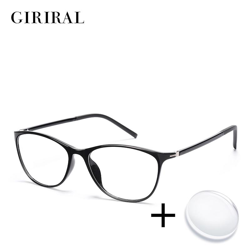 TR90 women prescription glasses retro colored clear computer reading optical transparent sight myopia glasses #YX0267(China)