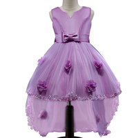 New High End Flower Girl Dress Trailing Party Birthday Wedding Princess Toddler Baby Girls Clothes Children