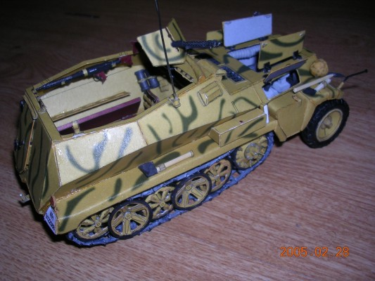 1:25  DIY Paper Model German Half Truck Armoured Carrier Sdkfz 250.1 WW II  Boy Gift Papercraft 3D Puzzle