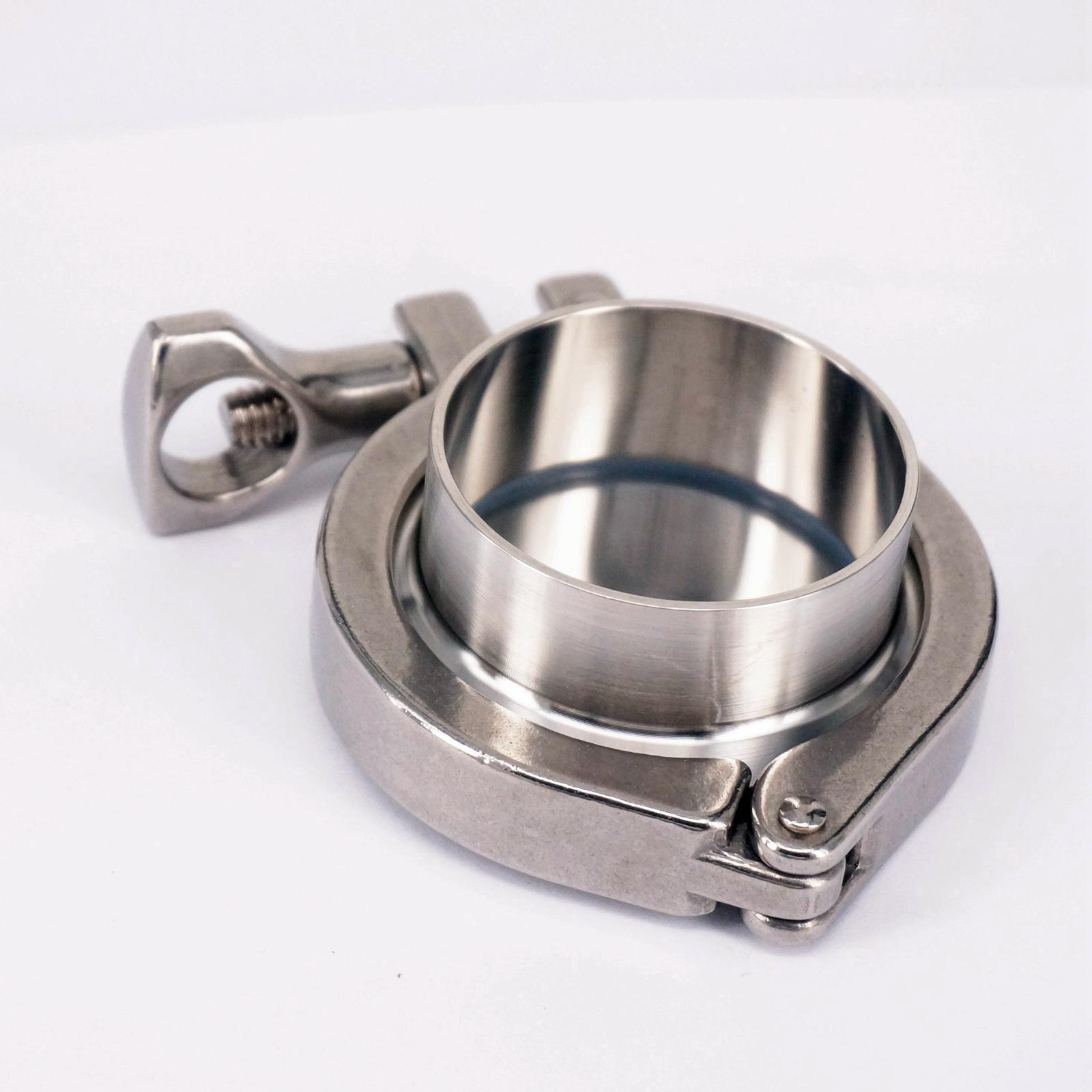 A Set 51mm 2 Sanitary Tri Clamp Weld Ferrule + Tri Clamp + Silicon Gasket + End Cap 304 Stainless steel free shipping 6 154mm sanitary tri clamp weld ferrule tri clamp silicon gasket union set 304 stainless steel for homebrew