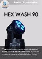 Раша Wash90 5*18 Вт 6in1 RGBAW УФ мини moving Head мыть свет, этап Moving Head для дискотека