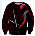 2016 Deadpool sweatshirt 3D funny badass Deadpool hoodie men women harajuku punk hoodie  streetwear comics tops plus size XXL