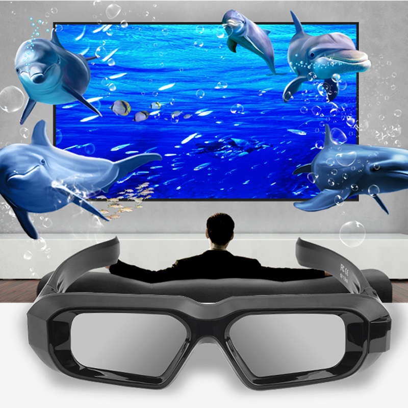 цена на 1pc RF bluetooth Shutter Active 3D glasses 480HZ for EPSON Projector & 2013~2016 year bluetooth RF projector & 3D TV