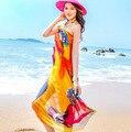 Женщины Летнее Платье Дамы Шифон Wrap Саронг Пляж Купальник Бич Купальный Костюм Cover Up Бикини Шарф Парео