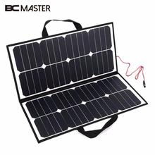 BCMaster 50W 18V Portable Outdoor Foldable Solar Panel Board Solar Power Charger For Battery