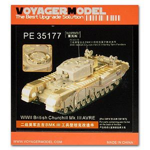 KNL HOBBY Voyager Model PE35177 Churchill Mk.III Infantry Tank Engineer Type Upgrade Metal Etching Kit