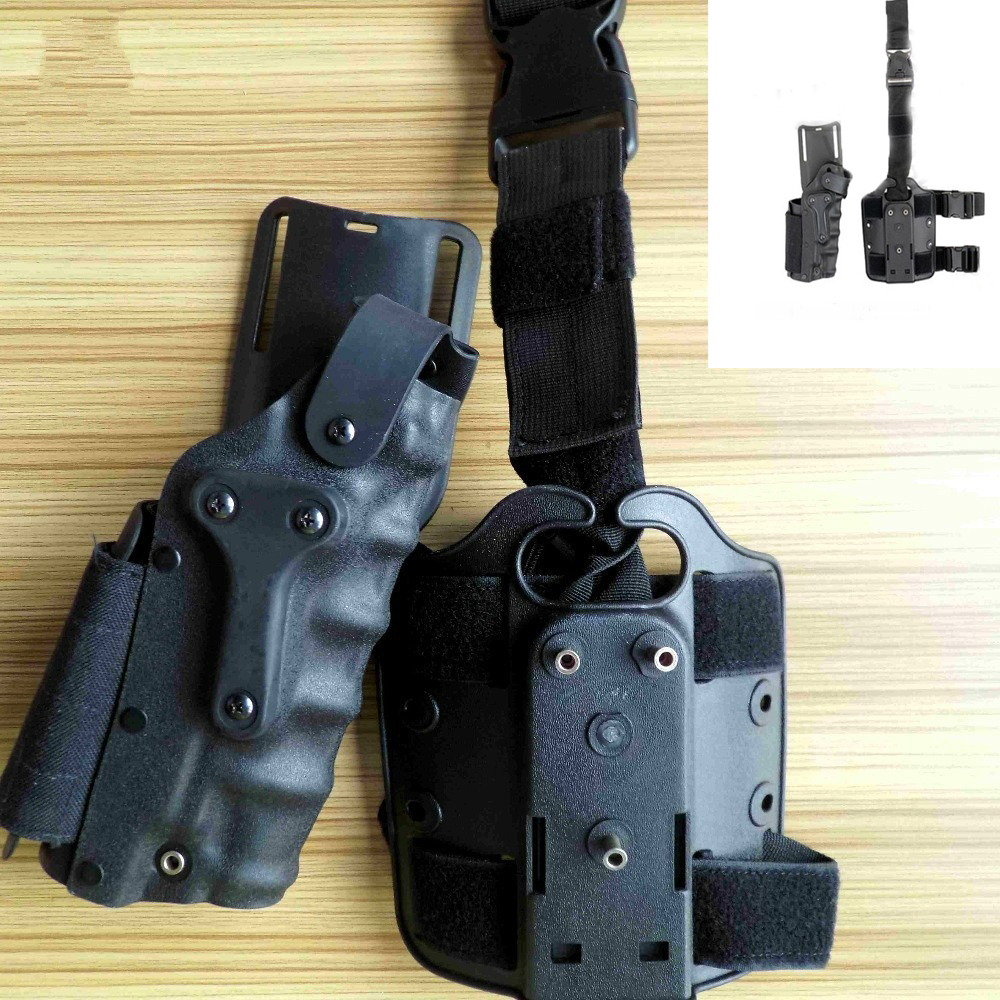 New Tactical Holster Set w/ leg Platform Hunting Right Left Hand Use Drop Leg Hoster for GL 17 19 22 23/ 1911 / M92 M9
