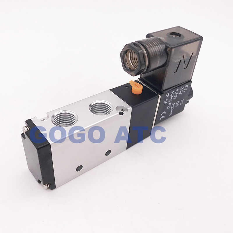 """Новый тип хорошего уплотнения Пылезащитная пневматический клапан сброса давления части 4V210-08 1/4 """"BSP 24 V DC 5 Путь 2 Позиция газа сброса регулирующий клапан"""