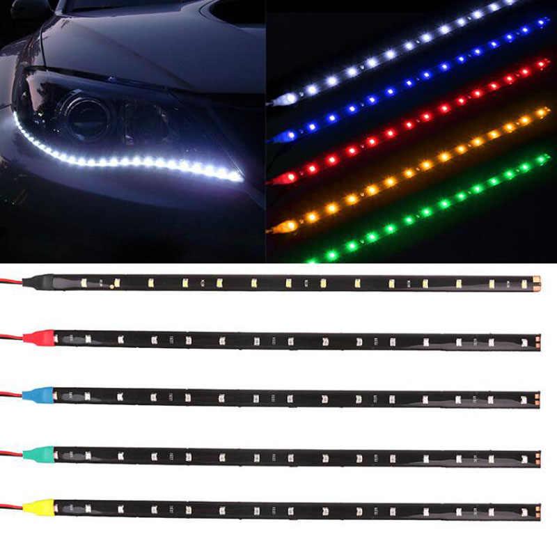 """YG 2 см шт. 30 см автомобиля Гибкие светодиодные ленты свет высокой мощность 12 В в 11,8 """"15SMD водосветодио дный стойкие светодиодные дневные ходовые огни декоративные авт"""