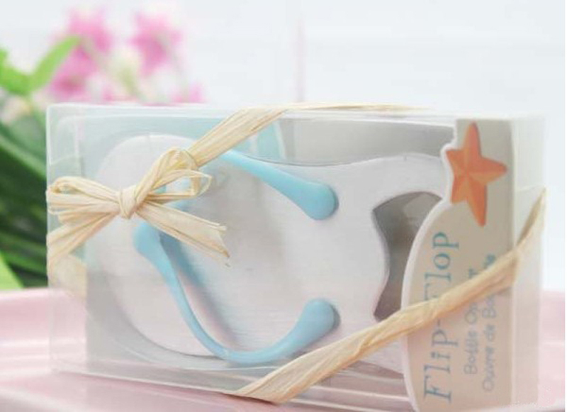 Free Shipping 100pcslot Beach Wedding Gifts Flip Flop Bottle Opener
