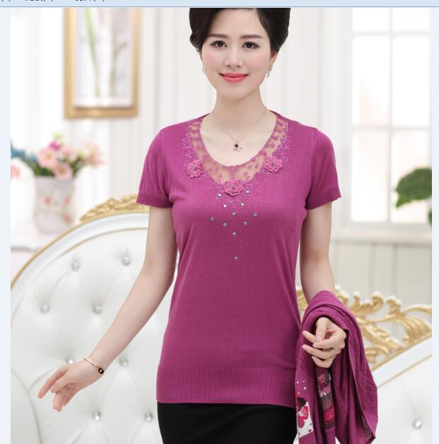 Hot Sale Lady Spring New Fancy Design Lace Embroidery Sweater Twin