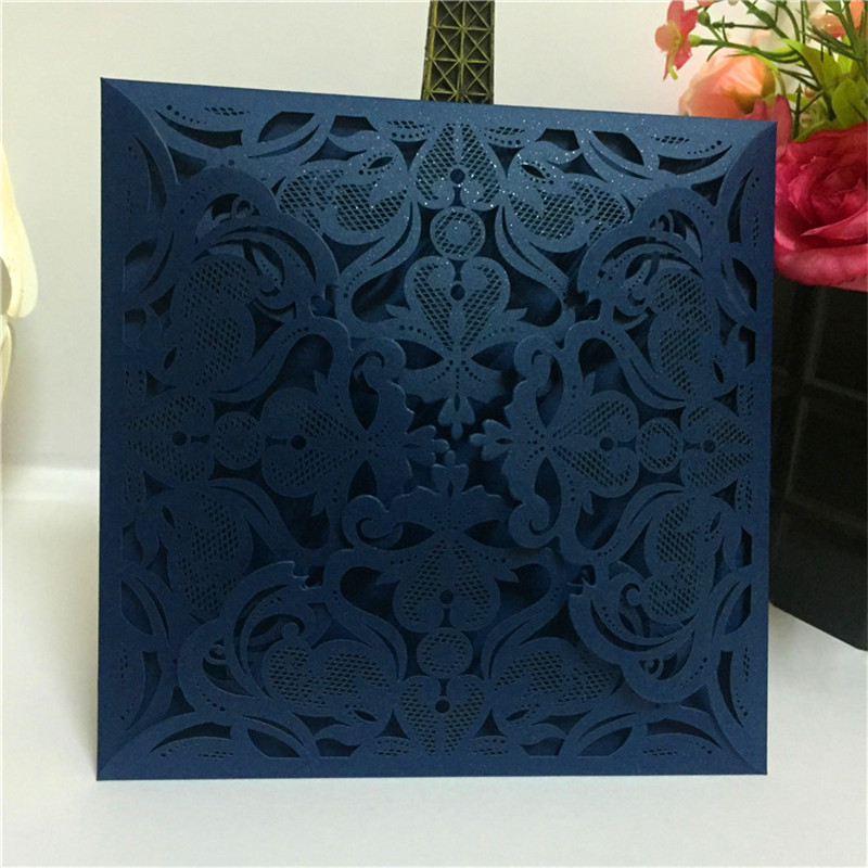 30pcs Blue Star Wedding Invitations Card Paper Card Table Decoration