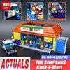 New LEPIN 16004 2232Pcs Simpson KWIK E MART Model Set Building Kits Model Compatible With 71016