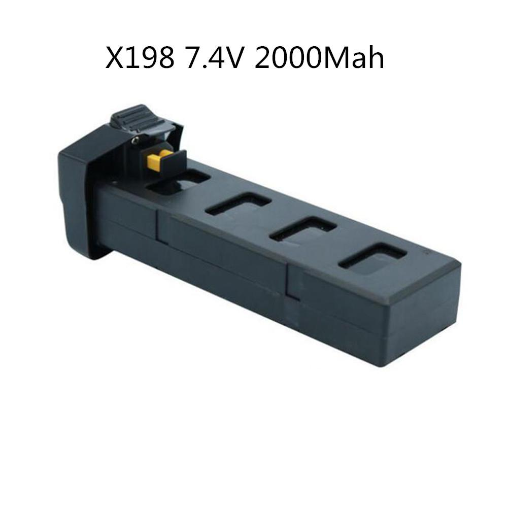 LeadingStar 7.4V 2000mAh RC Drone Battery Spare Parts for X198/GW198 Brushless Aircraft zk30 global drone original body shell for gw198 x198 spare parts set