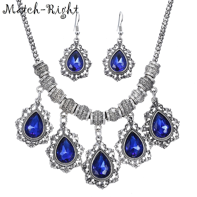 Match-Right Women Maxi Necklaces & Pendants Statement  Choker Necklace with Pendant for Women Set Acrylic Stone Jewelry NL649