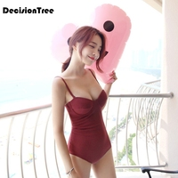 2019 summer women none sleeves red hooded swimming sunscreen quick dry wetsuit surf clothing swimsuit Bodysuit Push Up Monokini