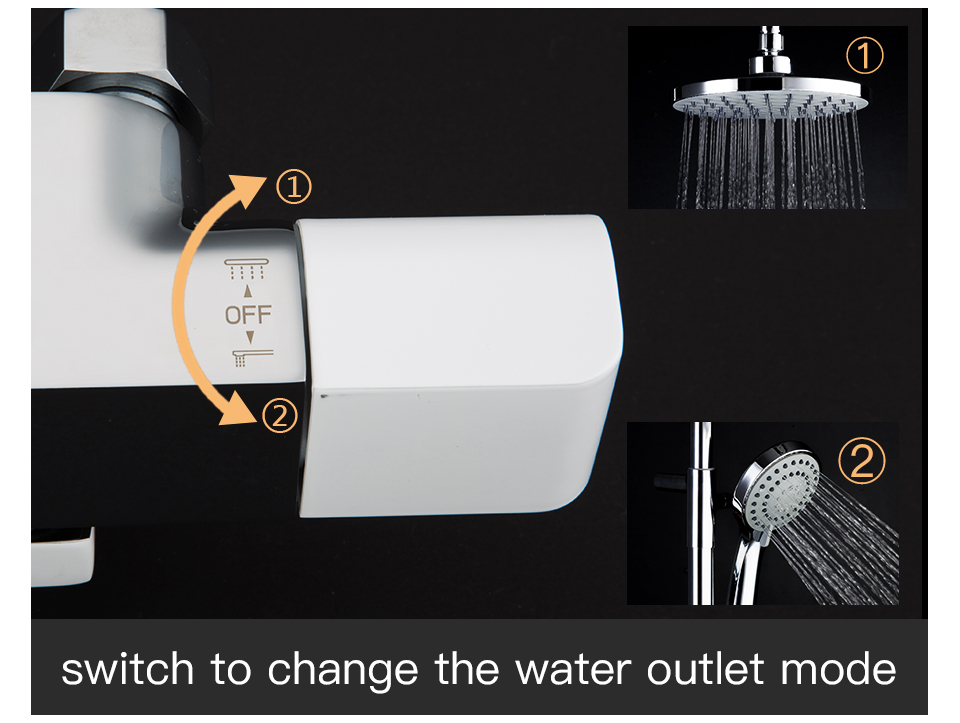HTB1qZ8paUD1gK0jSZFGq6zd3FXaC GAPPO thermostatic shower set rain shower set shower faucet hot and cold Shower faucet Bathtub thermostatic shower mixer