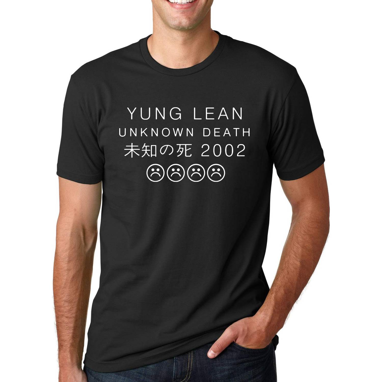 Letter Printed YUNG LEAN UNKNOWN DEATH Sad Boys T-shirts Men's Streetwear Short Sleeve O-Neck T Shirts 2019 Summer Hip Hop Tops
