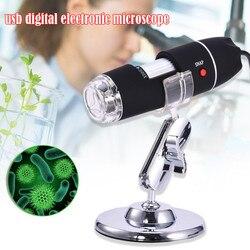 1600X 1000X 500X led cyfrowy mikroskop USB kamera endoskopowa mikroskop lupa elektroniczne stereo biurko mikroskopy w Mikroskopy od Narzędzia na