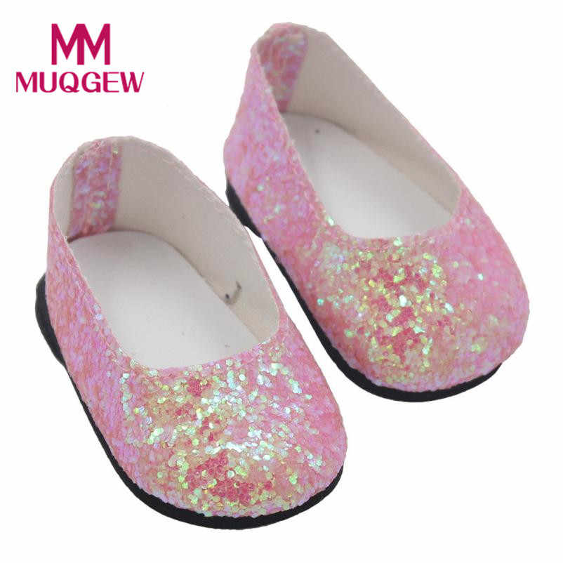 70b033ad03d76 Newest baby born doll accessories Glitter Doll Shoes Dress Shoe For 18 Inch  Girl Doll jogo americano doll accessories shoes