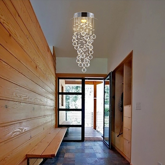 lighting a hallway led lighting modern led crystal aisle lights corridor suspension light hallway entrance bar counter balcony window