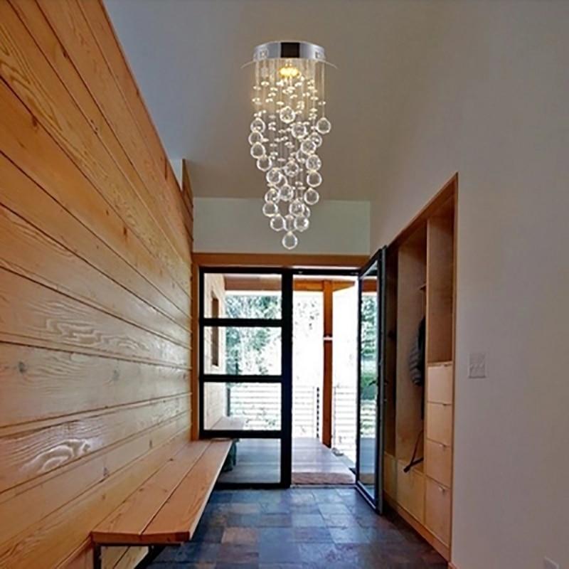 Modern LED Crystal Aisle Lights Corridor Lights Suspension Light Hallway Hallway Entrance Bar Counter Balcony Window Chandelier