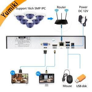Image 2 - Камера видеонаблюдения H.265 +/H.264, 16 каналов * 5 МП, NVR, сетевая камера Vidoe с интеллектуальным анализом, 1080P/720P, IP, с кабелем SATA, ONVIF CMS XMEYE