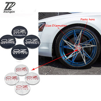 ZD 4Pc Car Styling O.Z Tire Wheel Center Hub Cap Cover Stickers For Kia Rio Ceed Toyota Corolla 2008 Avensis C-HR RAV4 Mazda 3 6 image