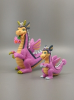 Pvc figuur dier speelgoed model Magic animal fairy draak set 2 stks/set