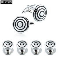 Perfect Craft And Exquisite Design Rhodium Plated Base Cooper With Black Enamel Men S Fashion Accessories