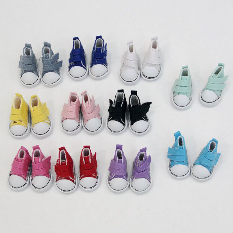 5cm Canvas Doll Shoes For 1/6 BJD Fashion Doll Shoes For Russian DIY Handmade Cloth Doll Accessories Mini Toy Shoes