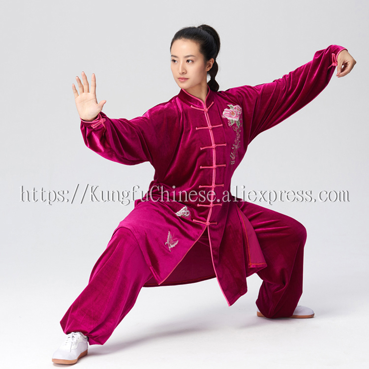 Chinese Tai chi uniform kungfu outfit taijiboxing suit Practicing clothes in winter for girl women boy
