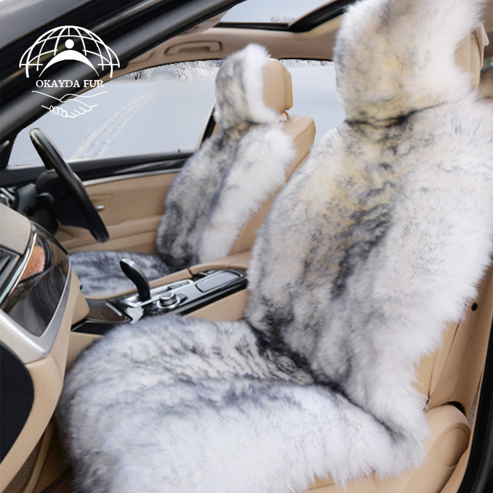 OKAYDA RU 100% Looduslik karusnahk Austraalia lambahari autoistme - Auto salongi tarvikud - Foto 4