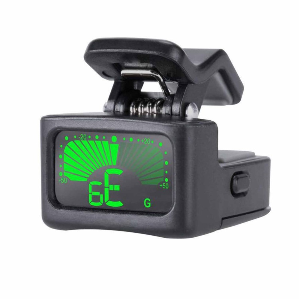 rechargeable clip on guitar tuner color screen with built in battery usb cable for chromatic. Black Bedroom Furniture Sets. Home Design Ideas