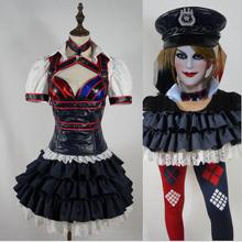 Batman Arkham Knight Origins City Harley Quinn Arkham Asylum Costume Adult Cosplay Carnaval Halloween Costume For Women
