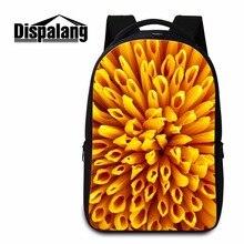Dispalang персонализированные back pack для ноутбуков 14 дюймов цветочный узор молодых женщин ежедневно рюкзак студент школы мешок книги