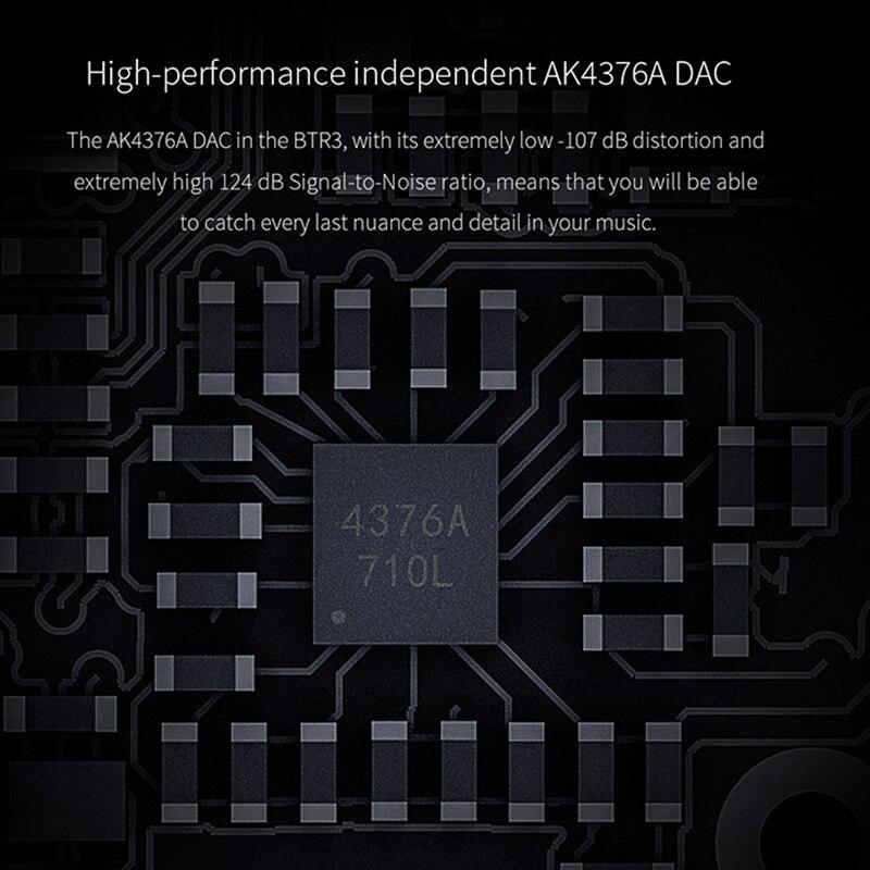 FiiO BTR3 CSR8675 AK4376A DAC USB portátil Bluetooth APTX HD tecnología LDAC LHDC tipo C 3,5mm amplificador para teléfono móviles/Android/PC - 3