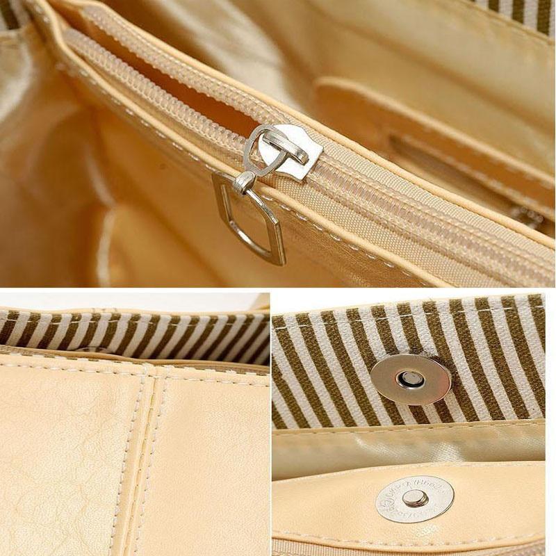 STSR Leather shoulder bag fashion ladies Messenger bag handbag 2019 women's Messenger bag ladies black 32CM*13CM*25CM 5