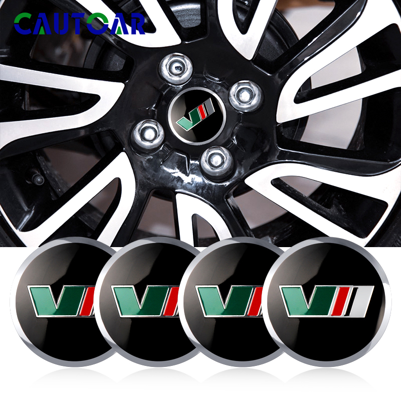 4pcs <font><b>Car</b></font> styling New 56mm VR V logo <font><b>Car</b></font> <font><b>Wheel</b></font> <font><b>Center</b></font> <font><b>Hub</b></font> <font><b>Cap</b></font> Badge Emblem Decal Sticker for <font><b>Skoda</b></font> rapid fabia Fabia accessories image