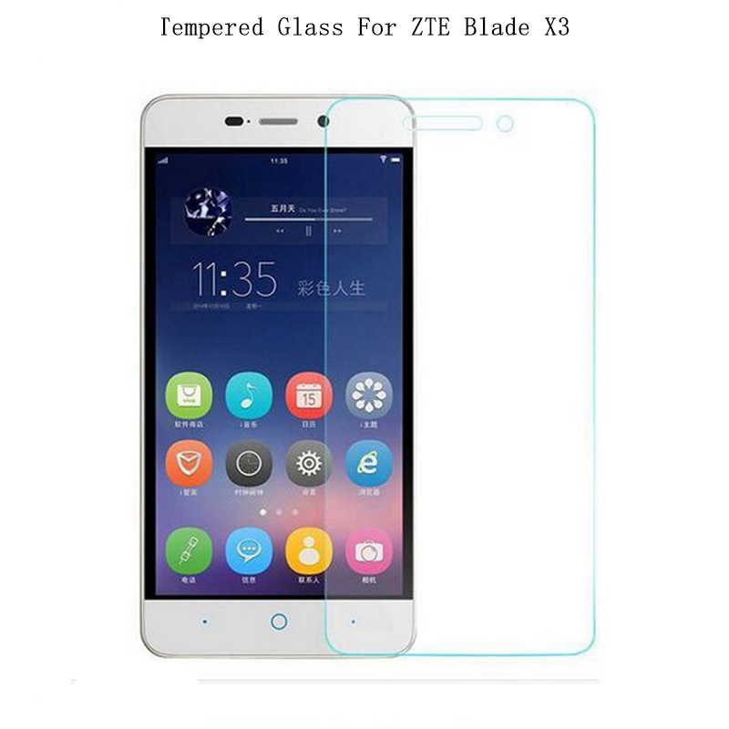 For ZTE Blade X3 Tempered Glass 9H High Quality Protective Film Case Explosion-proof Screen Protector For ZTE Blade X3 D2 T620
