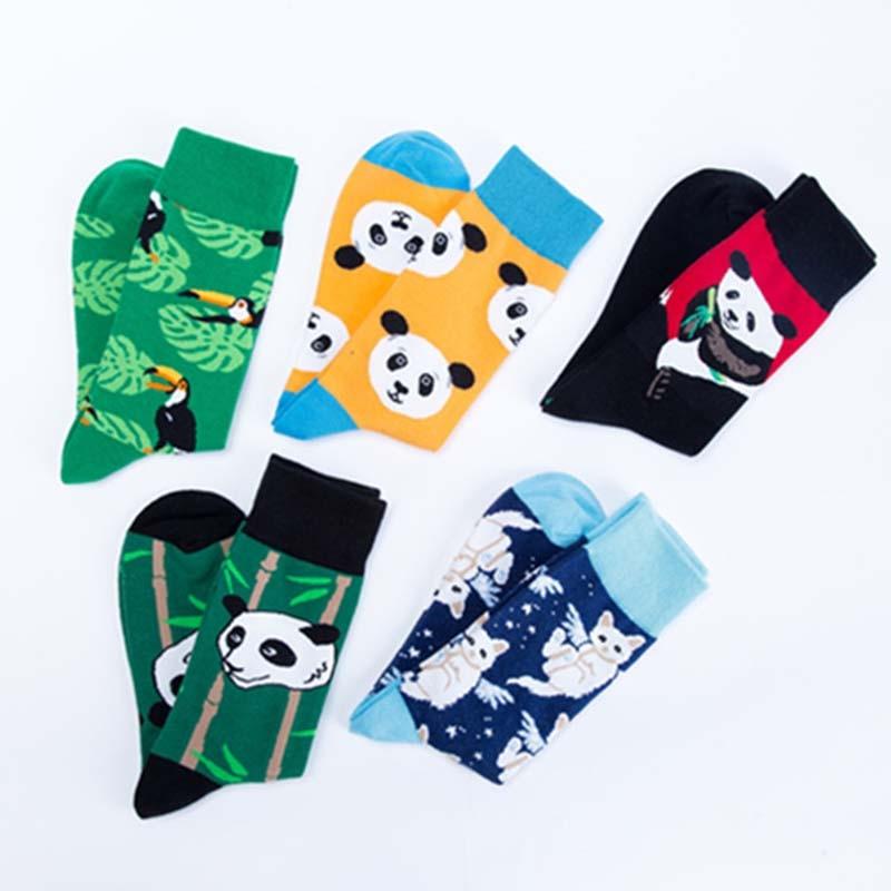 Underwear & Sleepwears Skateboard Fashion Animal Rhinoceros Bird Panda Mens Socks Europe Usa Hip Hop Street Crew Funny Socks