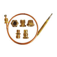 MENSI Gas Boiler Replacement Parts Universale Thermocouple With Five Adapters Flame Safety Sensor 5PCS/lot