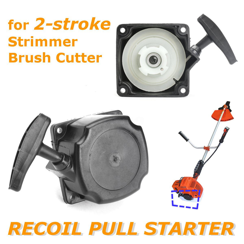 Universal Recoil Pull Starter Assembly For 2 Stroke Strimmer Brush Cutter Recoil Starter Parts Garden Lawn Mower Replacement